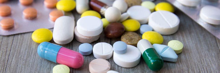 colorful prescription drugs