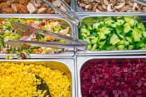 Different-ingredients-for-a-salad-seen-at-a-buffet