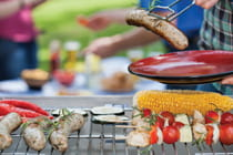 close-up-of-food-on-an-outdoor-grill-at-BBQ
