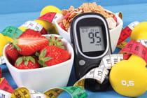 glucose-monitor-with-health-food-and-workout-gear