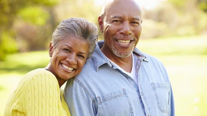old couple happy